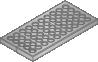 Belüftungsplatte 100x100x12 DB 6 mm