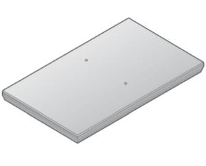 Stelcon_N platte mit Fase, Ohne Stahlramen